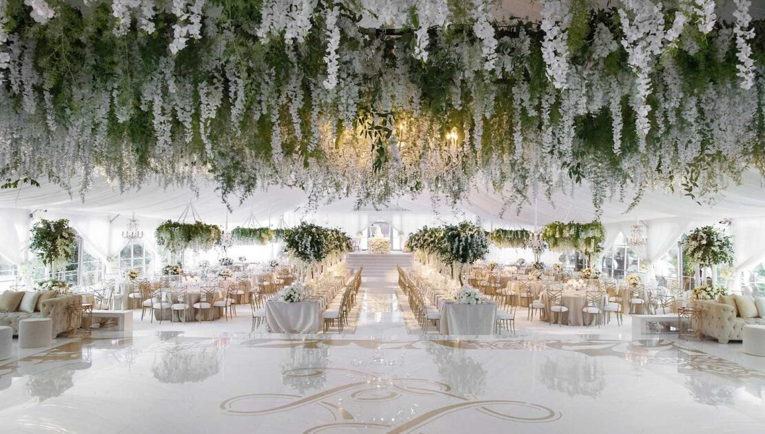 Here's How You Can Beautify the Ceiling at Your Wedding Venue