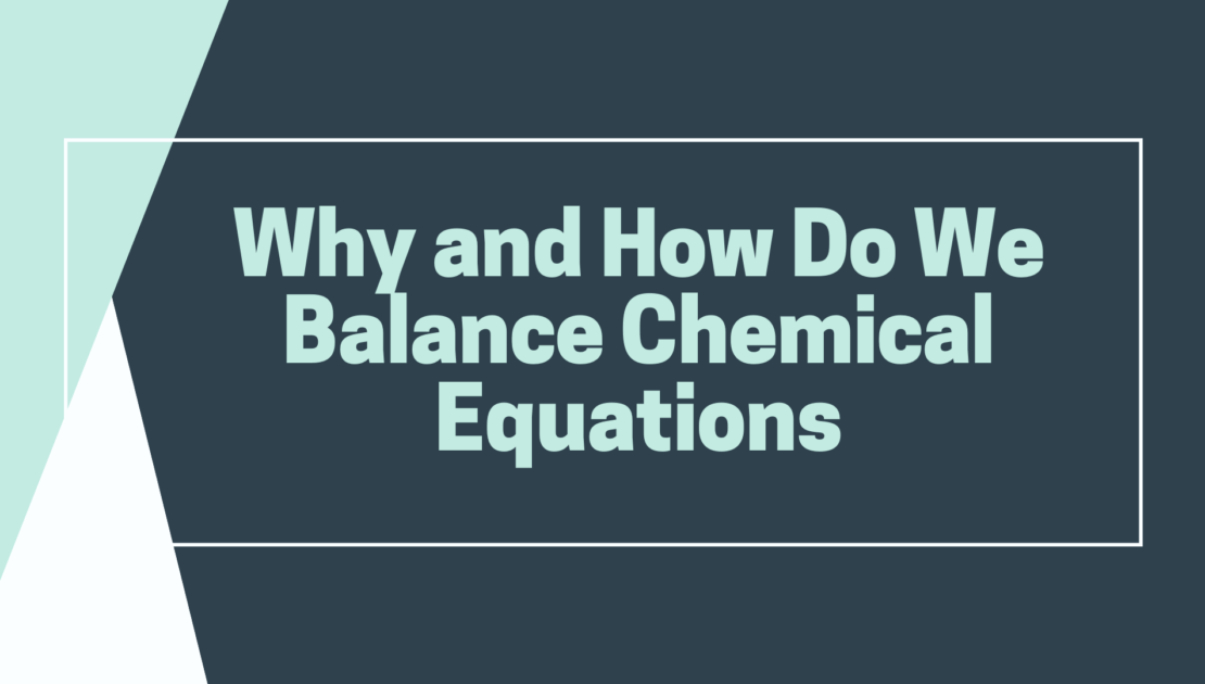 how to balance the chemical equation