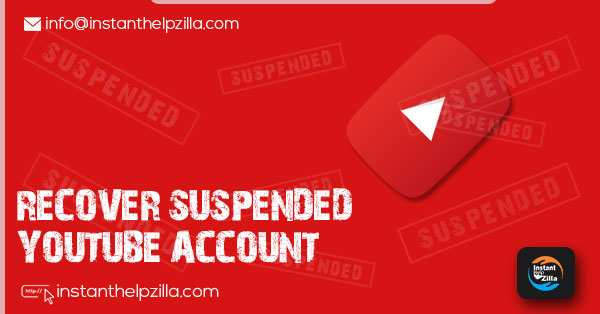 recover suspended youtube account