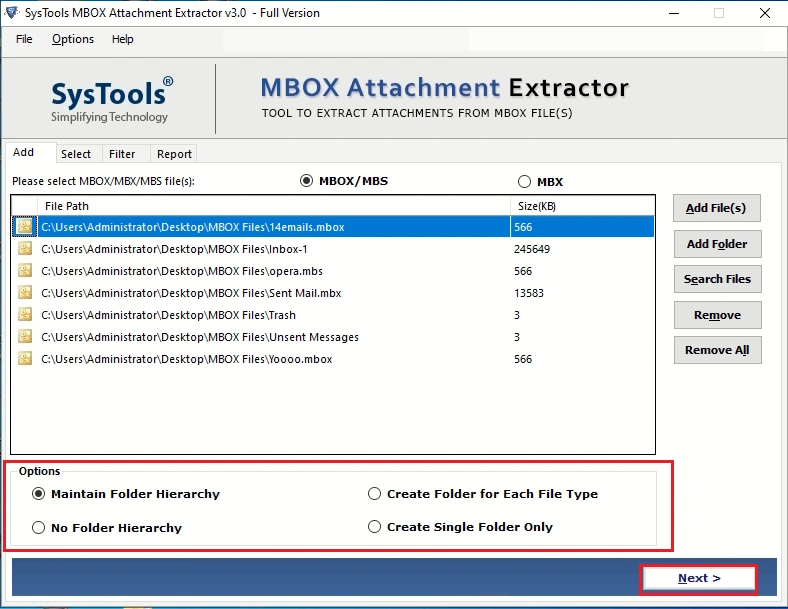 extract attachments from mbox