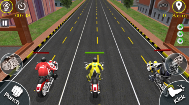 The Race 3D Motorcycle Racing Fighting Game