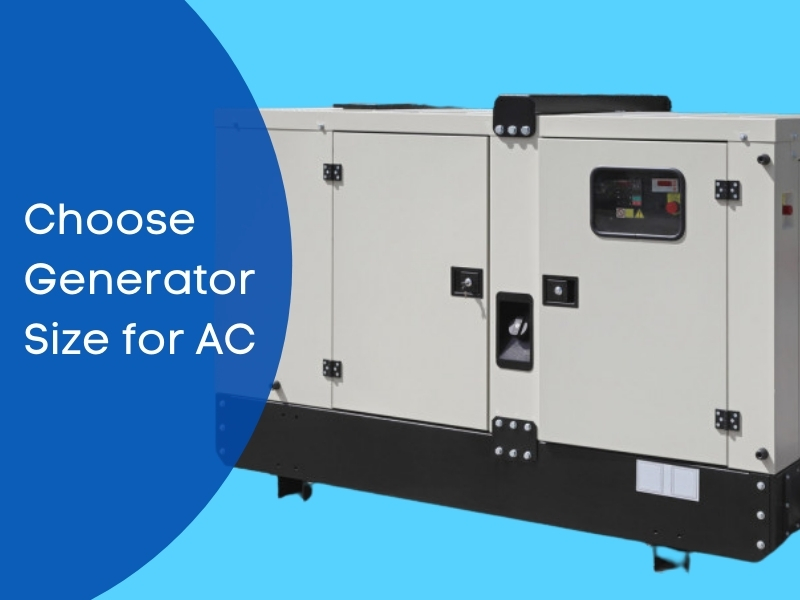 what generator size to run an AC